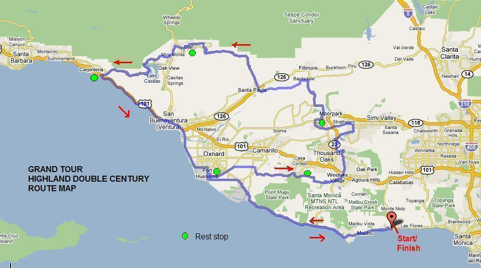 Map: Highland Double Century (via www.lawheelmen.org)