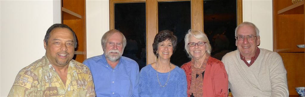 L to R: Kermit, Rod, Pam, Nancy and Ron